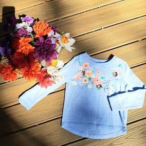 Girl 5 \ 6 Gymboree small Sweatshirt Flower Floral